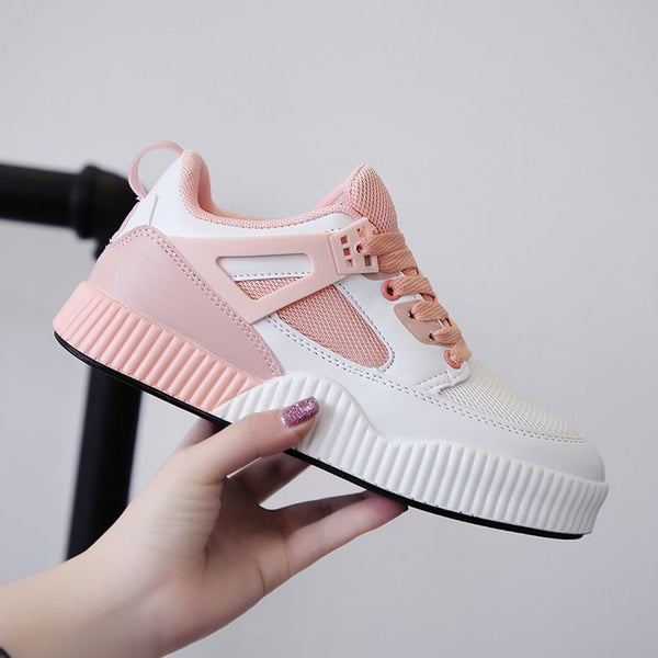 2019 summer new Korean style sneakers round toe mesh breathable small white shoes casual women's shoes