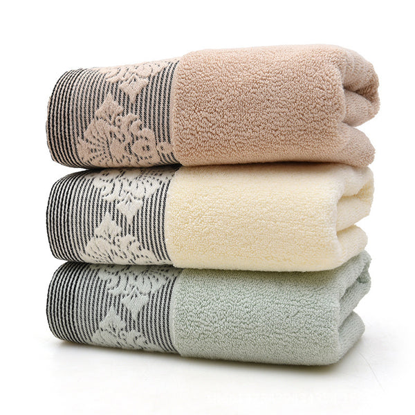 Soft absorbent cotton towel