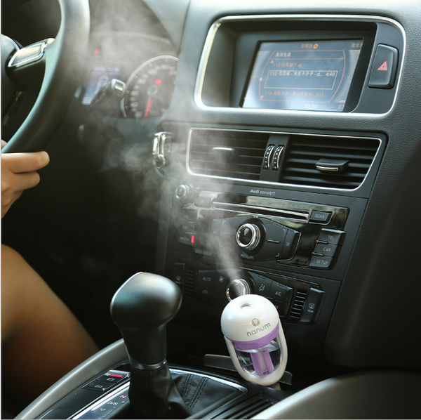 Car Humidifier Air Purifier Freshener Essential Oil Diffuser