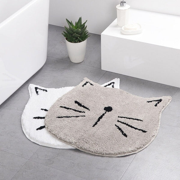 Carpet one generation flocking ins Nordic cartoon cat bathroom absorbent mat home entrance living room mat