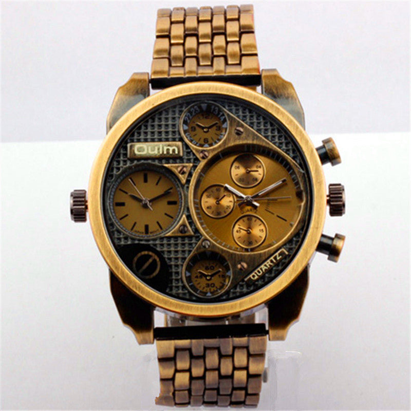 OULM's European radium imported quartz movement watches wholesale brand stainless steel male military derivative goods