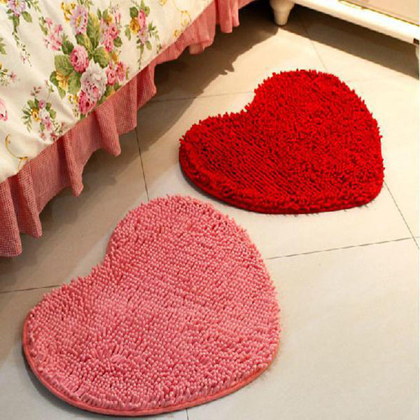 The marriage room decoration wedding supplies wholesale plush carpet chenille mat creative love heart 50*60CM