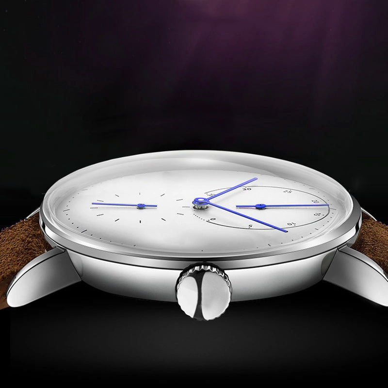 Full automatic mechanical movement, men watchcurved surface convex personality watch, simple energy meter