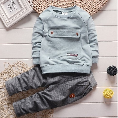 2017 toddler baby clothes children suit 0-3 years old suit + pants children's sportswear boys girls children's clothing brand