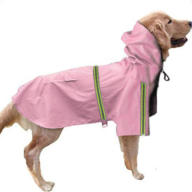 Spring and summer new dog raincoat waterproof cape dog reflective raincoat large dog raincoat