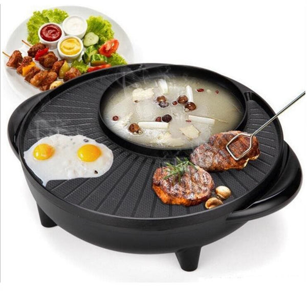 Korean electric heat pan stone electric roasting pan boiling and baking one pot stone multifunctional electric Hot pot tray