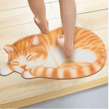 Cartoon cat floor mat bathroom bathroom kitchen absorbent anti-slip mat door mat foyer bedroom carpet without lint