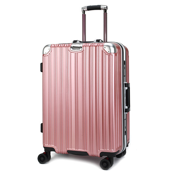 Luggage pull rod box Cardan female rose gold aluminum frame tour box 20/24 inch men business suitcase