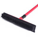 Pet hair removal broom long handle scrub brush retractable floor brush cleaning broom rubber brush cleaning cat dog hair