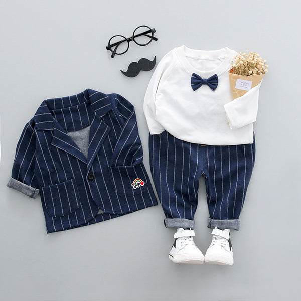 2018 autumn children's suit three-piece children's suit suit Korean version of the small suit factory wholesale boy suit