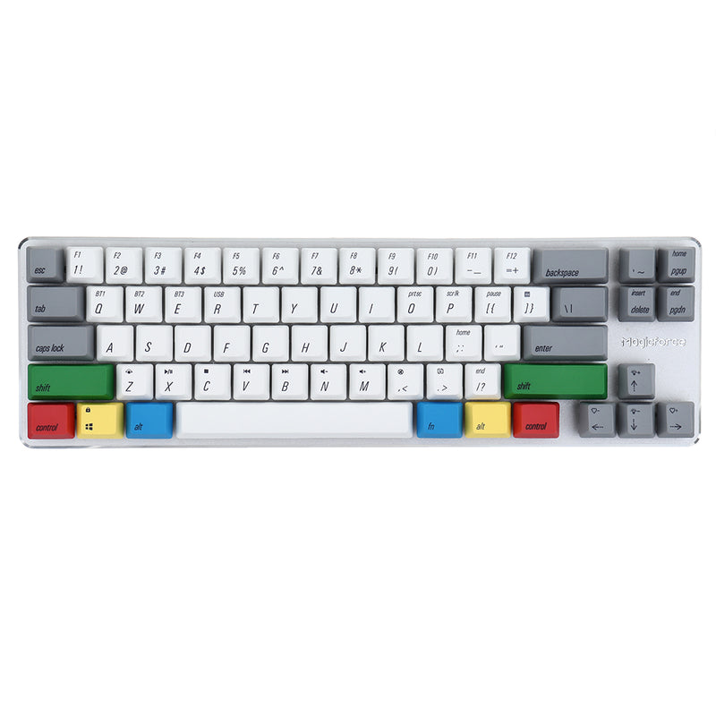 [Gateron Switch] Magicforce Smart 2 68 Keys Backlit bluetooth 4.0 Dual Mode PBT Keycap Mechanical Gaming Keyboard for Desktop and Laptop