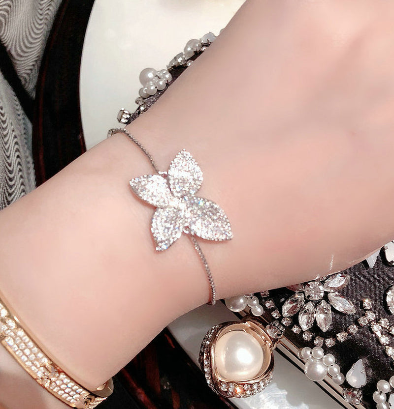 New Korean Adjustable Jewelry AAA Zircon Joker Bracelet Ring