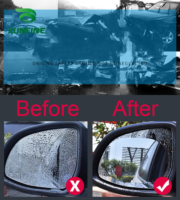 2PCS Car Rearview Mirror Protective Film Car Mirror Window Clear Film Anti Dazzle Waterproof Rainproof Anti Fog Car Sticker