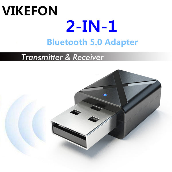 VIKEFON Bluetooth 5.0 Audio Receiver Transmitter Mini Stereo Bluetooth AUX RCA USB 3.5mm Jack For TV PC Car Kit Wireless Adapter