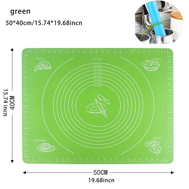 Baking mat food grade silicone non-stick baking mat oven with high temperature dough pad fondant pastry cooking tools extra larg