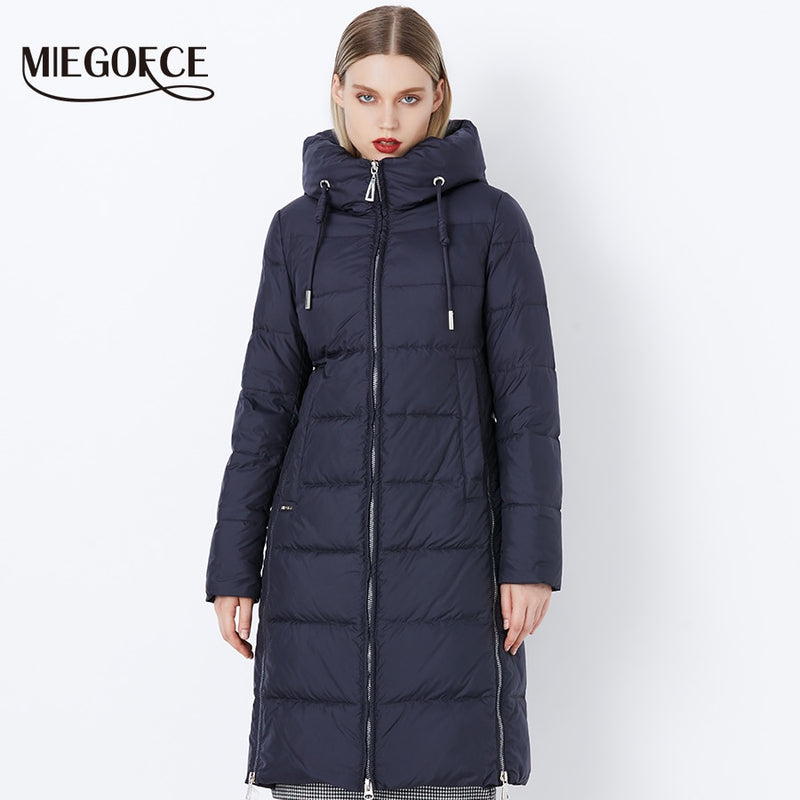 MIEGOFCE 2019 Thick Winter Windproof Coat Stand-Up Collar Hooded Winter Jacket High Quality Sale Winter Collection Women's Parka