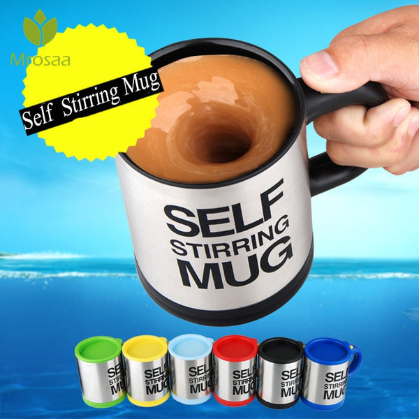 400ml Mugs Automatic Electric Lazy Coffee Milk Self Stirring Mug Cup Mixing Mug Smart Stainless Steel Juice Mix Cup Drinkware