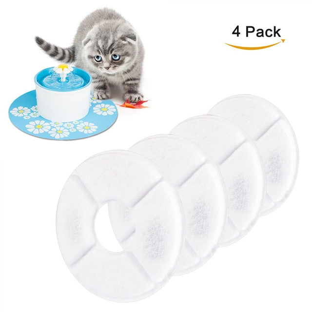 Multifunctional 4pcs/Lot Activated Carbon Filter For Automatic Water Drinking Fountain Cat Dog Kitten Pet Bowl Drink Dish Filter