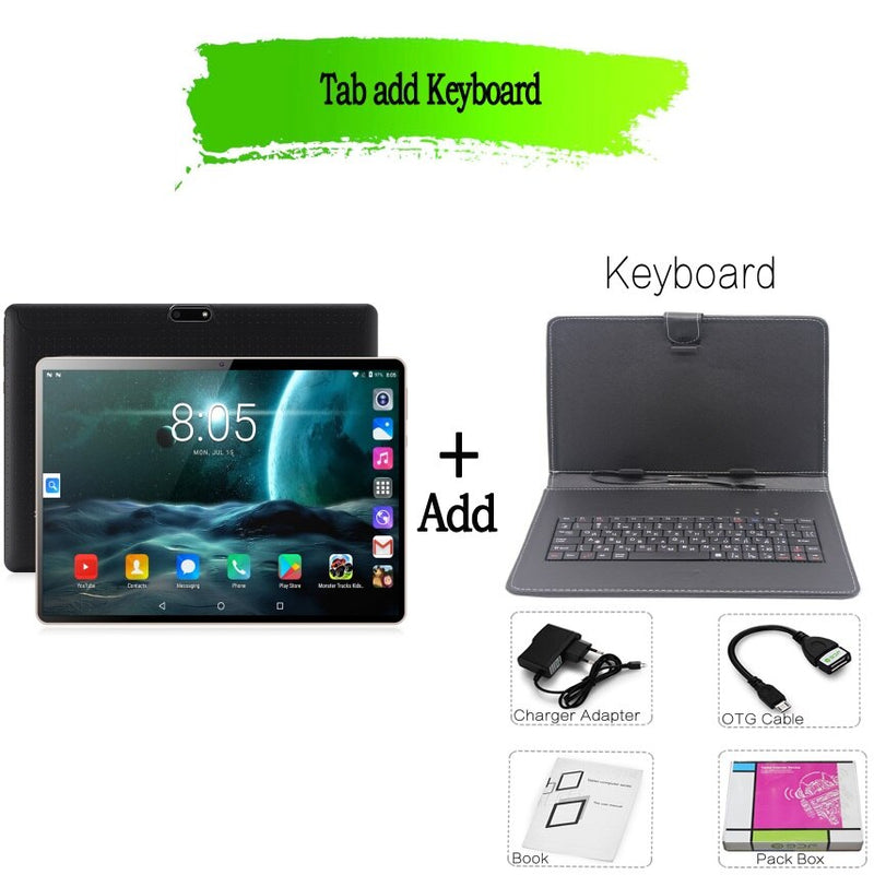 BDF New Original Design 10 inch Tablet Pc Android 7.0 Octa Core 4GB+64GB 3G Phone Call Dual SIM Card CE Brand WiFi 10.1 Tablets