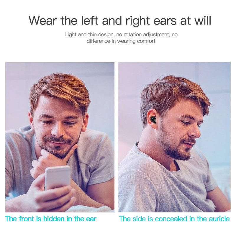 S650 Mini Bluetooth Earphone Wireless In-Ear Invisible Auriculares Earbuds Handsfree Headset Stereo with Mic for All Smart Phone