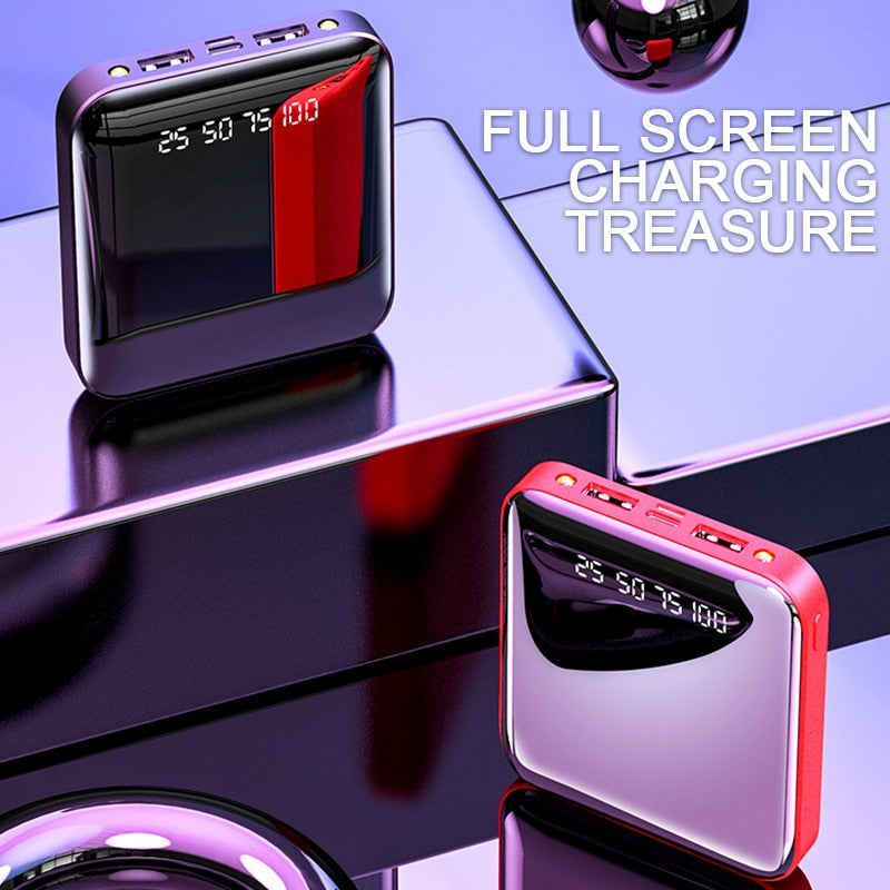 New Mini Power Bank Portable For iPhone Samsung Xiao Mi Powerbank Power Bank 30000mAh Charger Dual Usb Ports Battery Powerbank