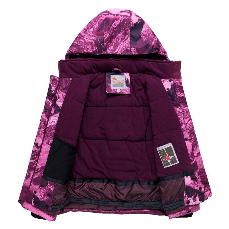 2019 Kids Winter Ski Suit Girls Skiing Jacket Pants 2 Pieces Waterproof Windproof Children Thick Warm Snow Set For Girls Outdoor