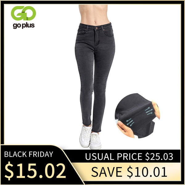 Women's High Waist Jeans Skinny Jeans Woman Plus Size Black Mom Jeans Femme Pencil Denim Pants Vaqueros Mujer Spodnie Damskie