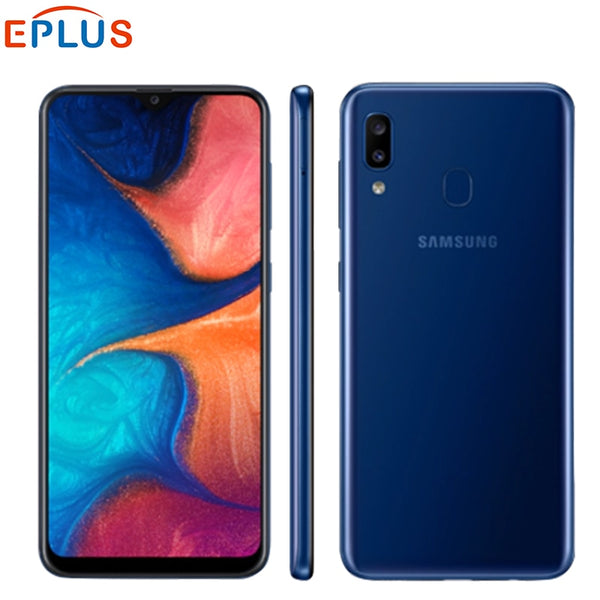 "Global Samsung Galaxy A20 A205GN/DS Mobile Phone 6.4"" 3GB RAM 32GB ROM Exynos 7884 Octa Core Android 9 Dual SIM 4G SmartPhone"