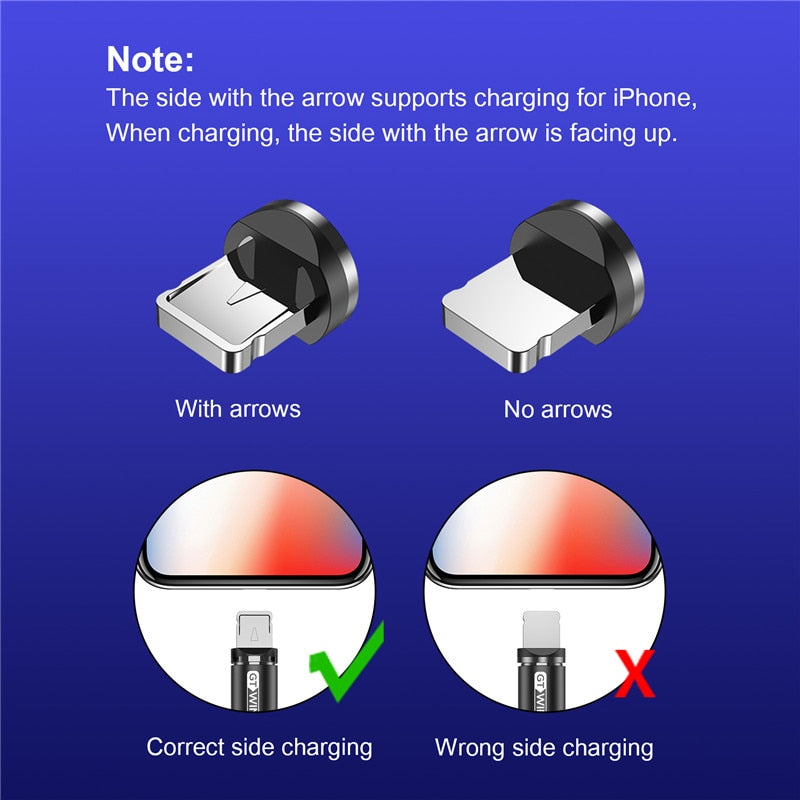 GTWIN 2m 3m Magnetic Micro Type C USB Cable Fast Charging Adapter Charger Magnetic Charge For iPhone XS Max Samsung Note Xiaomi