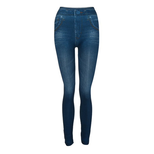 Women Denim Pants Pocket Slim Leggings Fitness Plus Size Leggins Length Jeans Elastic Waist Skinny Autumn Winter Pencil jeans
