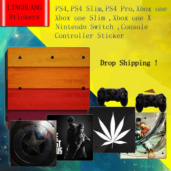 Vinyl Stickers Skin Decals Cover For PS4 / PS4 Slim / PS4 Pro / X box one / One Slim / One X / Switch console and controller