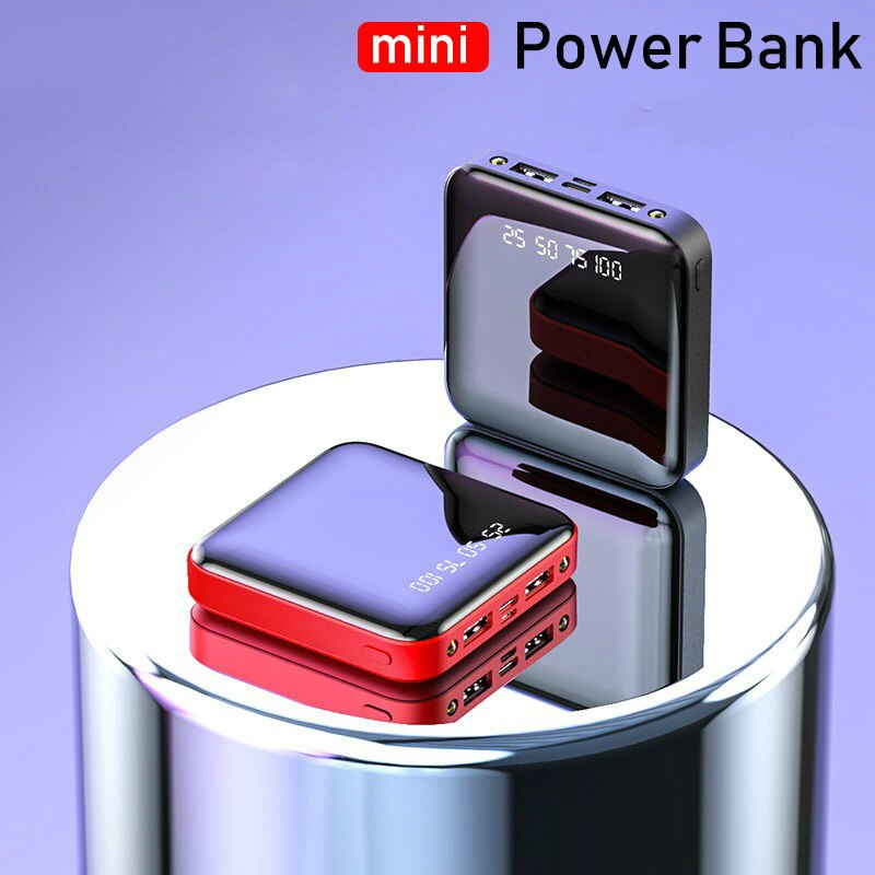 Mini Power Bank 12000mAh For iPhone 7 Xiaomi Mi Powerbank Pover Bank Charger Dual Usb Ports External Battery Poverbank Portable