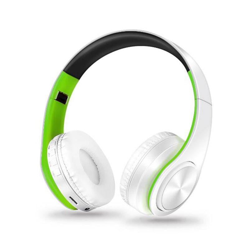 New Portable Wireless Headphones Bluetooth Stereo Foldable Headset Audio Mp3 Adjustable Earphones with Mic for Music