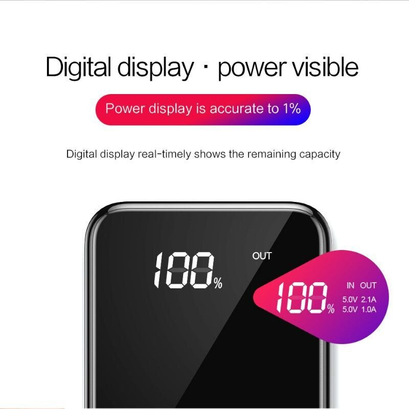 Ultra-thin Qi Wireless power bank 30000mah for iPhone X Xs MAX XR 8 wireless charger power bank for Samsung S8 S9 fast charger