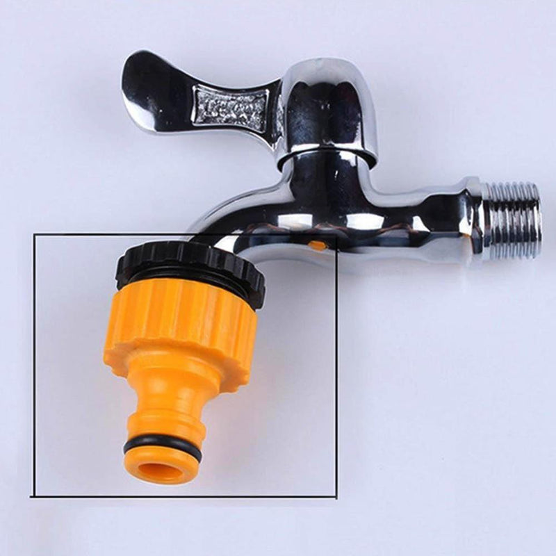 "1pcs Quick Tap Water Connector Adapter Fast Coupling Adaptor Drip Tape 3/4""and 1/2"" Barbed Irrigation Hose Connector Garden Tool"