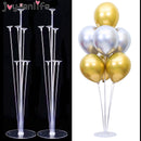 Cheap 7/11 Tubes Balloons Holder Column Stand Clear Plastic Balloon Stick Birthday Party Decoration Kids Wedding Balloons Decor