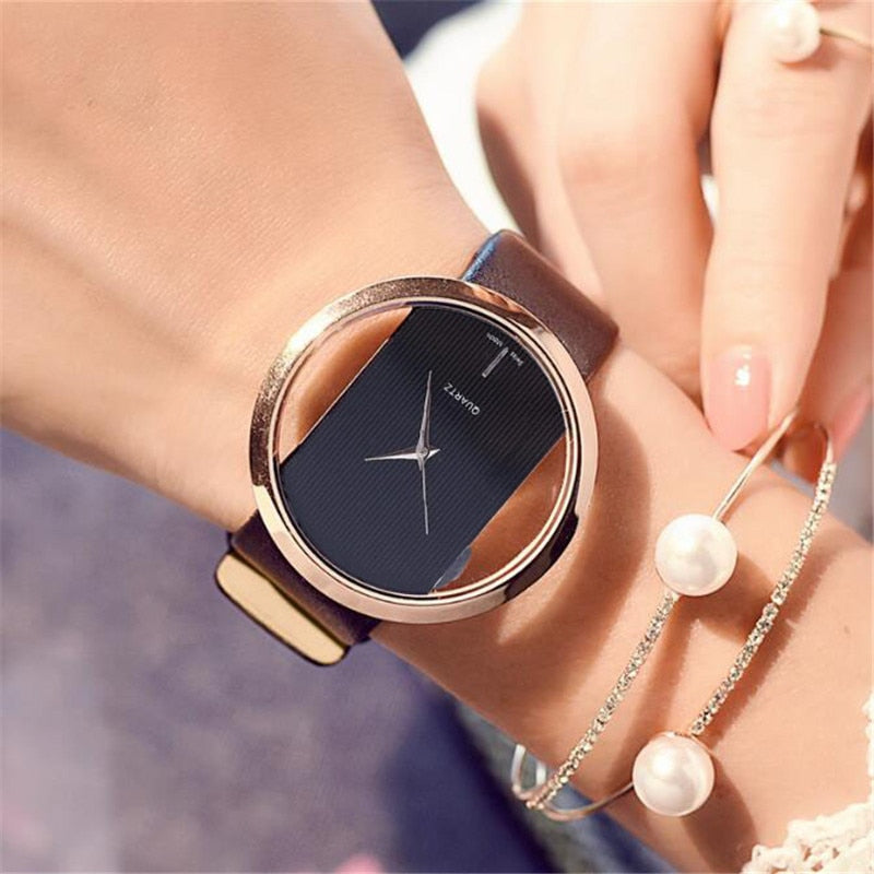 2020 Watch Watch Women Luxury Top Leather Quartz Antique Stylish Round Dress Watch Relogio Feminino Montre Femme reloj mujer