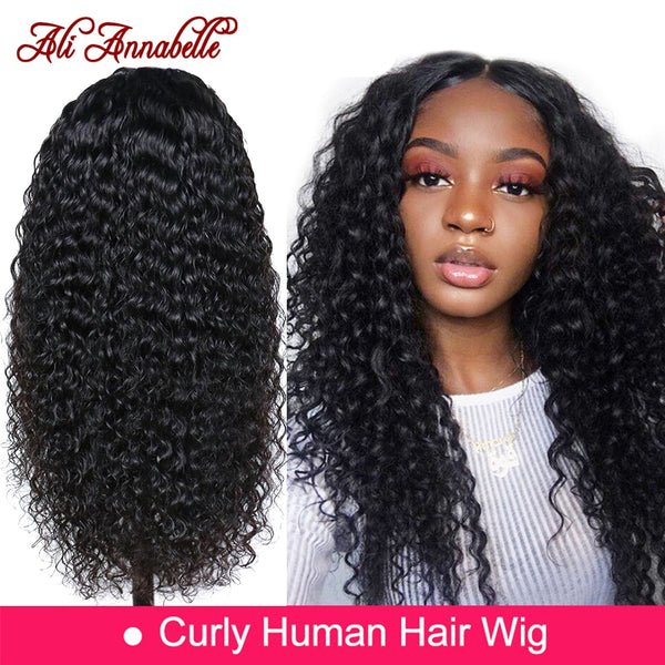 Lace Front Human Hair Wigs With Baby Hair Brazilian Curly Human Hair Wig 13x6 Human Hair Wigs ALI ANNABELLE HAIR Kinky Curly Wig