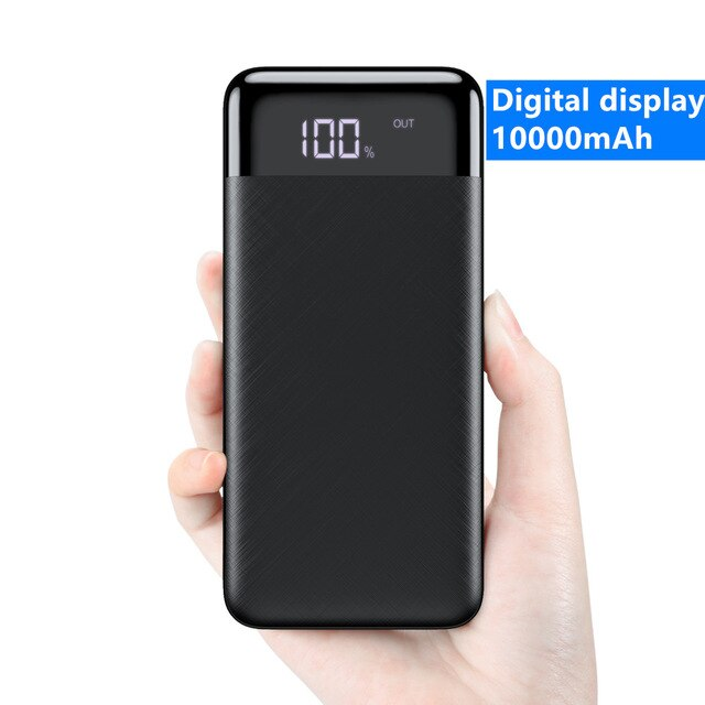RAXFLY 10000mAh Power Bank For Xiaomi Mi iPhone Powerbank Pover Bank Charger Dual USB Ports External Battery Poverbank Portable