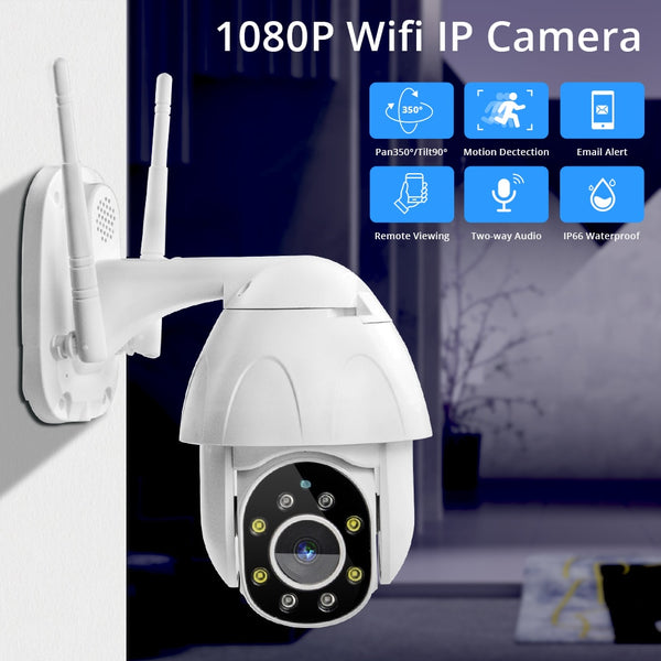Zclever 1080P PTZ Dome Camera Auto Tracking Wireless Wifi IP Camera Speed Dome Pan Tilt 4.0X Digital Zoom with Two Way Audio
