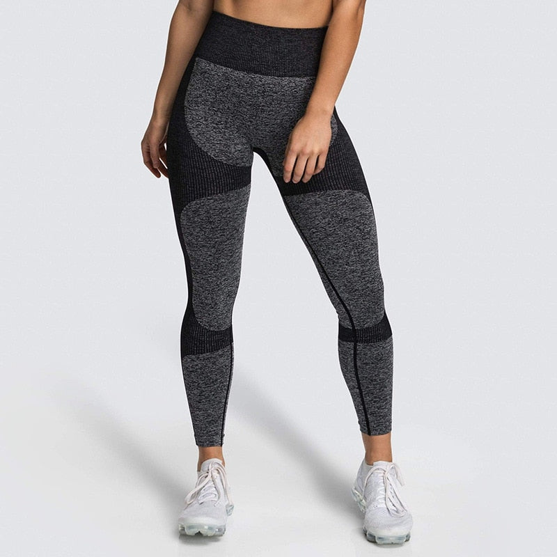 High Waist Yoga Pants Seamless Women Sports Leggings Fitness Solid Athletic Workout Long Tights Gym Running Trousers Girls