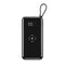 Wireless Power Bank Waterproof Full Screen Portable 30000 MAh Dual USB for All Phone Powerbank Fast Charging External Battery (Black)