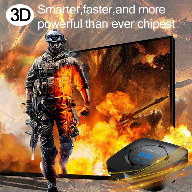 Android 9.0 4G 64G TV BOX 6K Youtube Google Assistant 3D Video TV receiver Wifi Bluetooth TV Box  Play Store Set top Box