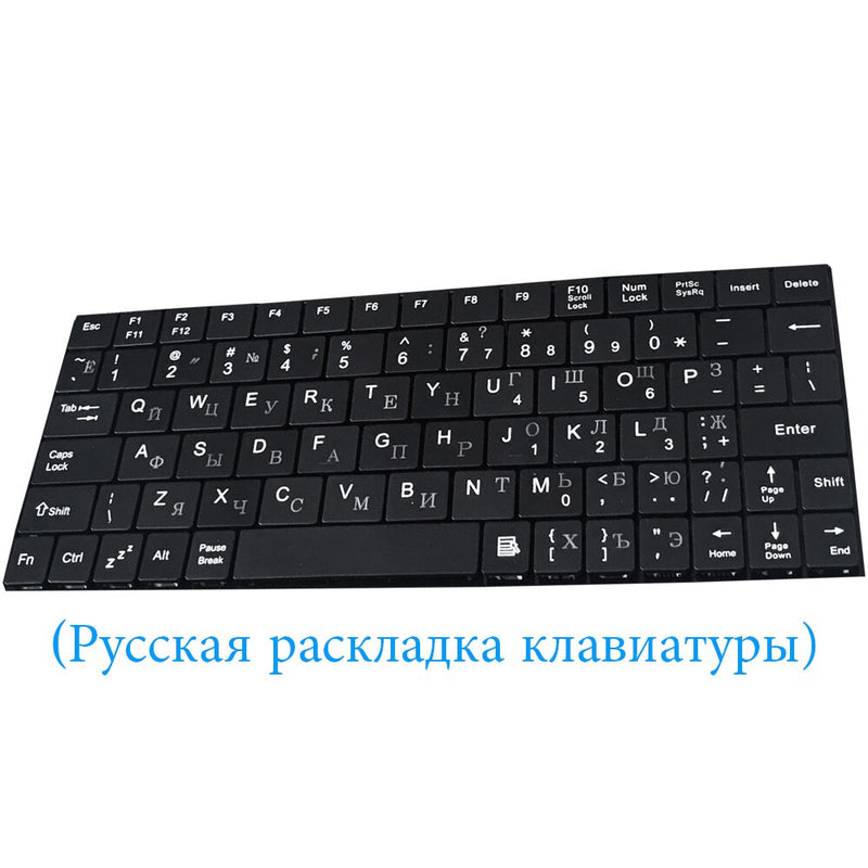 ANRY English And Russia Wired Keyboard For Tablet 10 10.1 Black PU+PC Leather Cover With Stand Case Built-in USB Wired Keyboard