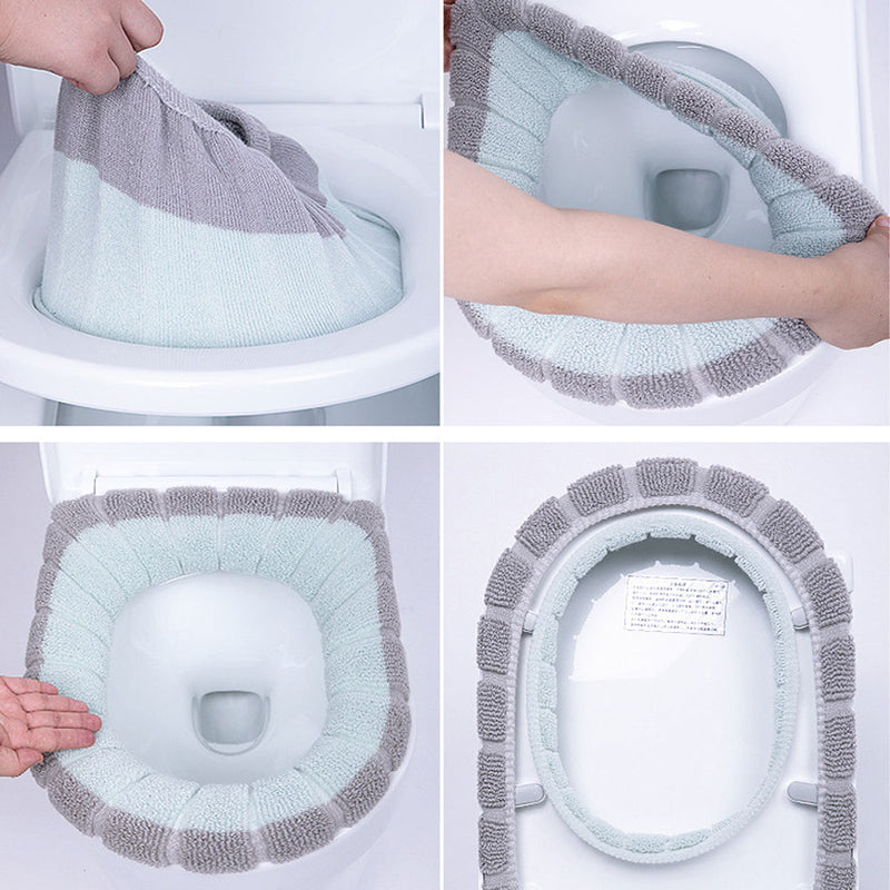 Universal Warm Soft Washable Toilet Seat Cover Mat Set for Home Decor Closestool Mat Seat Case Toilet Lid Cover Accessories