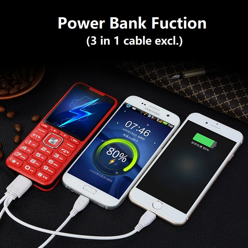 Mafam Music Mobile Phone Big Speaker Sound Quad 4 Sim 4 Standby Magic Voice Changer Power Bank 3.0 Display Dual Flashlight
