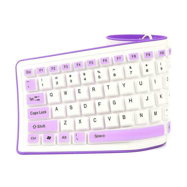 Foldable Silicone Keyboard USB Wired Flexible Soft Waterproof Keyboard Home Office Hi 888