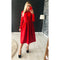 Women Autumn Winter Solid a Line Party Dress Ladies Long Sleeve o Neck Elegant Dress 2019 Loose Fashion Mid  Length Party Dress