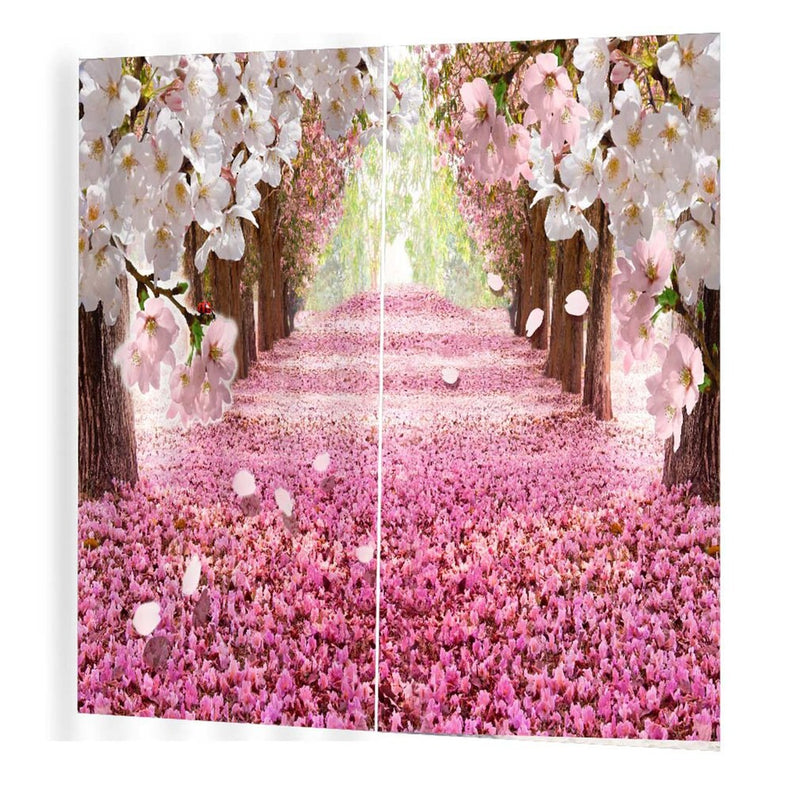 Cherry Brick Road Pattern Modern Design Curtain for Home Kitchen Living Room Bedroom Curtain for Window Decoration (Multi)