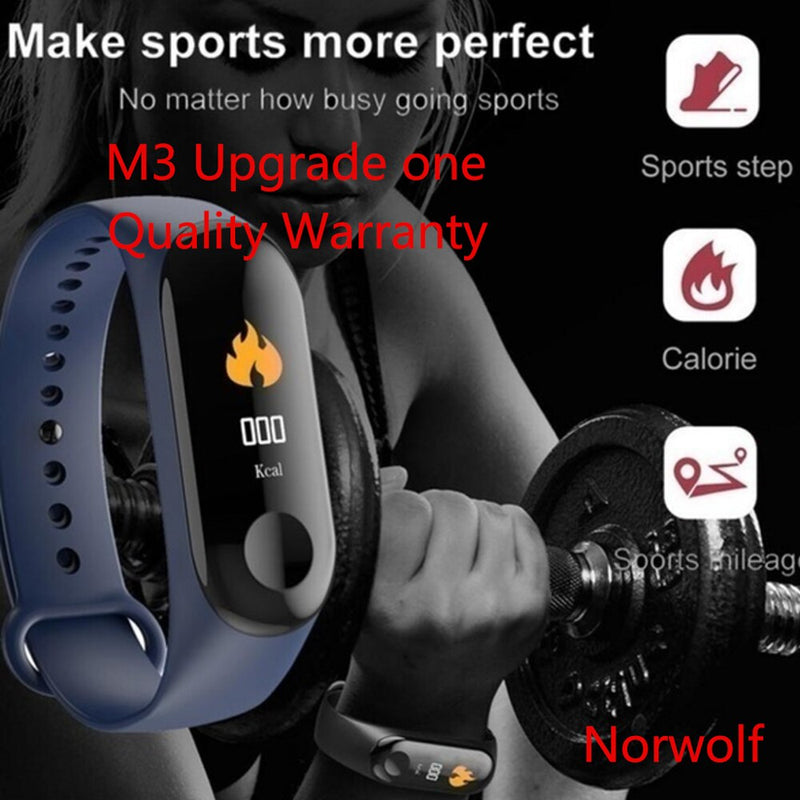 Upgrade Women Smart Bracelet Heart Rate Blood Pressure Health Waterproof Smart Watch Bluetooth Watch Wristband Fitness Tracker